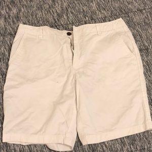 Men's white beach shorts